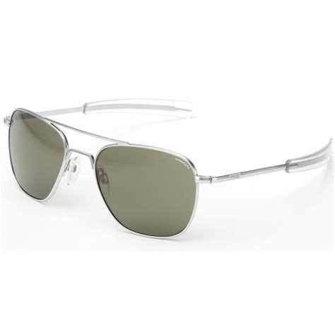 aviator with gray lens randolph aviator sunglasses matte chrome bayonet with grey