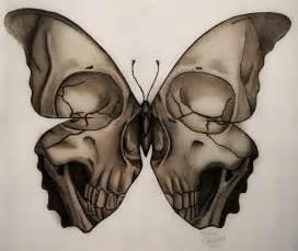 medusa illustration skull butterfly tattoo design