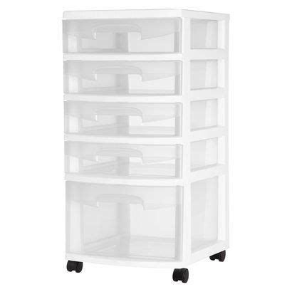 sterilite 5 drawer storage cart sterilite white 5 drawer cart 15 this has potential for