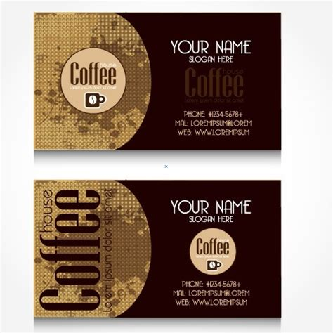 Coffee Business Card Template Free by Creative Coffee Business Card Vector Free Vector In