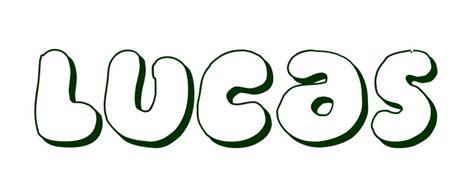 Dibujo para colorear Nombre Lucas