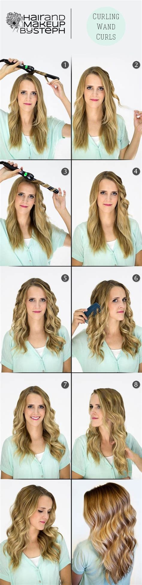 curling wand waves hair styles pinterest curls