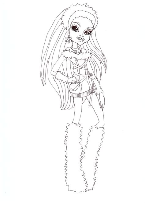 coloring pages monster high abbey free printable monster high coloring pages abbey
