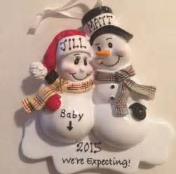 Amazon Com Home Decor mom amp dad we re expecting snowmen personalized christmas