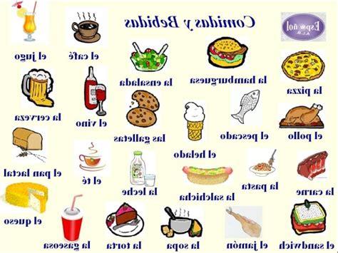 imagenes ingles y español comidas y bebidas en ingles comidas en ingles images