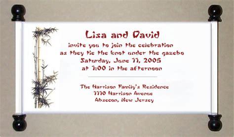 Bamboo Scroll Wedding Invitations