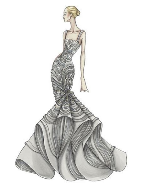 fashion illustration versace versace sketch drawings paintings