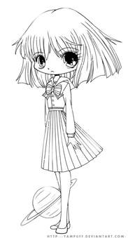 chibi coloring pages hotaru chibi lineart by yuff on deviantart
