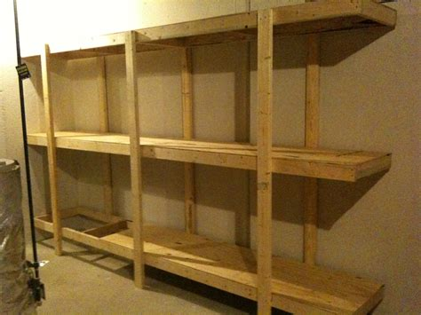 simple wood shelves build easy free standing shelving unit for basement or