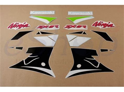 Decal Stiker 250r Green 2018 zx 9r 2000 set eshop stickers