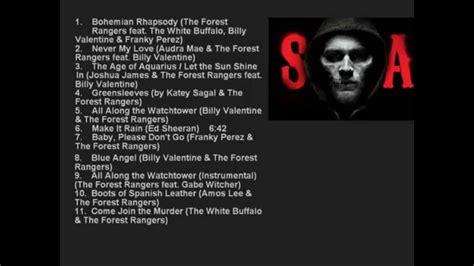 soundtrack list sons of anarchy season 7 official serie soundtrack list