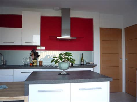 Attrayant Cuisine En L Avec Ilot #1: photo-decoration-cuisine-rouge-avec-ilot-central-7.jpg