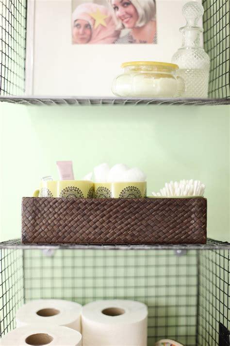 diy wall full of baskets bathroom storage idea my diy home 19 brilliant bathroom storage ideas homelovr