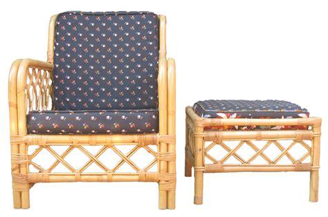 rattan chair and ottoman vintage ficks reed rattan chair ottoman