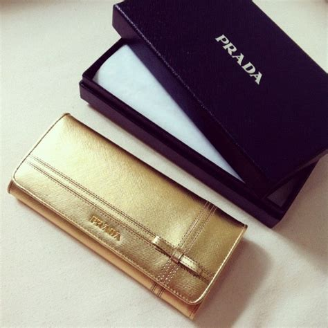 Prada Wallet Preloved the green suitcase prada saffiano gold bow wallet store powered by storenvy