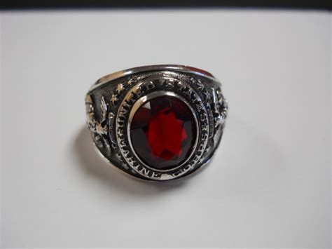 mens sterling silver us marine corps ring w