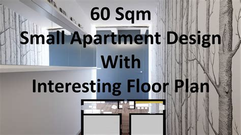 2 Bedroom Condo Floor Plans by 60 Sqm Small Apartment Design With Interesting Floor Plan