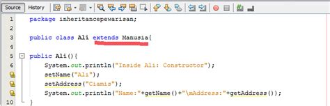 method setter dan getter pada java tutorial implementasi inheritance dan getter and setter