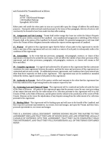 net lease form net lease form missouri free