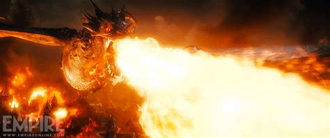 five below lava l smaug attacks in the hobbit 3 photos and tv spot movieweb