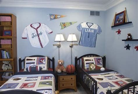 twin boys bedroom ideas amazing twin boys room sports jersey painting decoration