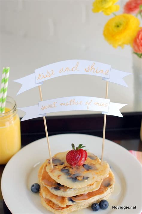 mother s day breakfast in bed mother s day breakfast in bed printable banner