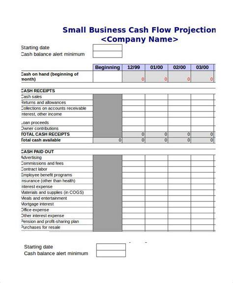 format cash flow bulanan cash flow projection template excel cash budget template