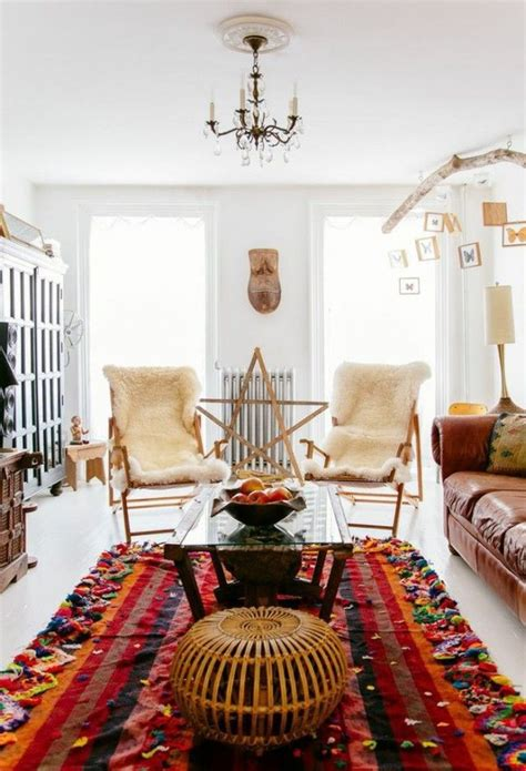 new inspiration home design interieur deco style boheme salon blanc tapis inspiration