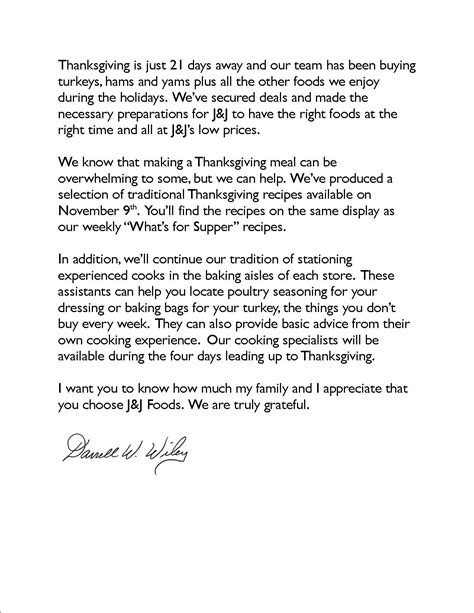 thanksgiving appreciation letter to clients a time for thanks