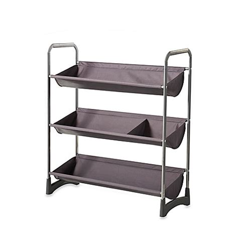 Etagere 3 Stöckig Silber by 3 Tier Stackable Sport Shelf Unit In Silver Bed Bath