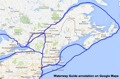 boat shipping map choosing your great loop route atlantic to great lakes