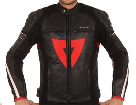 venom  racing siyah motosiklet ceketi motosikletclub