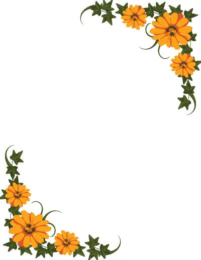 flower design page borders floral page borders cliparts co