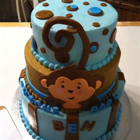 baby shower monkey cake baby birthday