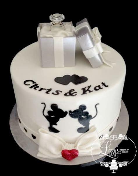 Engagement Cakes Pictures by Disney Engagement Cake Cake By Elizabeth Cakesdecor