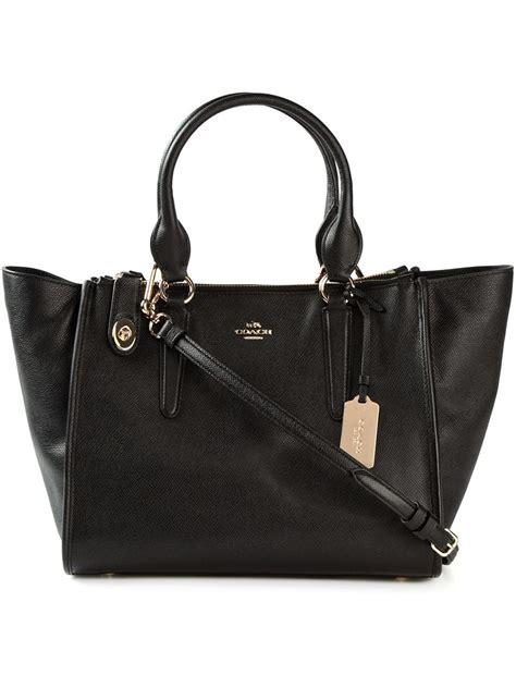 Coach Bag Black by Coach Crosby Leather Shoulder Bag In Black Lyst