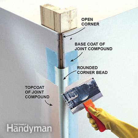 how to mud metal corner bead how to make bullnose corners drywall corner and