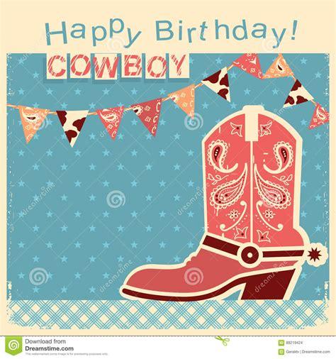 imagenes de tarjetas vaqueras tarjeta del feliz cumplea 241 os del vaquero con el zapato del
