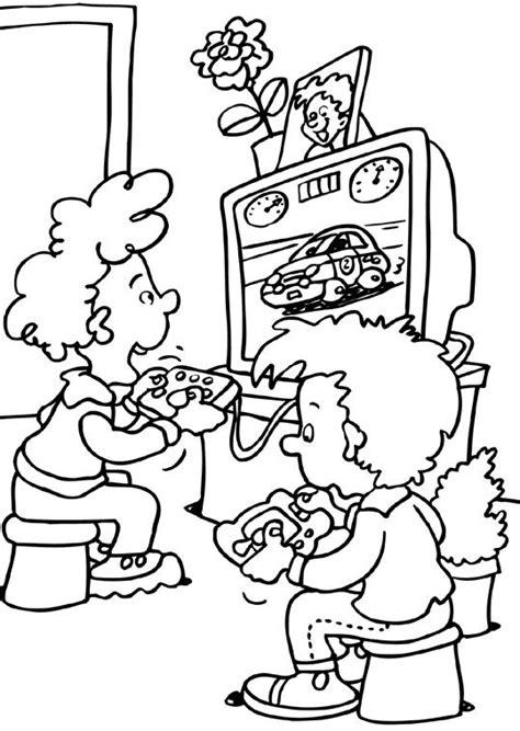 imagenes de niños jugando videojuegos animados ni 241 os jugando videojuegos para colorear imagui