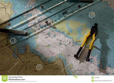 boating license kaneohe kaneohe bay chart royalty free stock image image 4418556