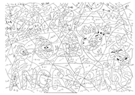 angry birds math coloring pages angry birds negative numbers calculated colouring by