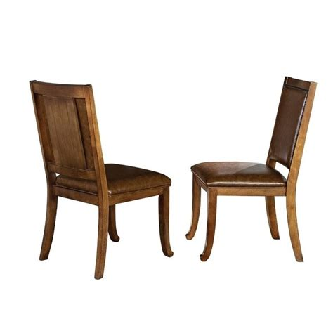 Silver Dining Chair Steve Silver Ashbrook Dining Chair In Oak Ab480s