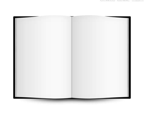 Blank Open Book Template Psdgraphics Book Template