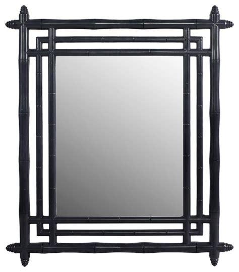 black mirror japanese bamboo mirror black asian wall mirrors by winward