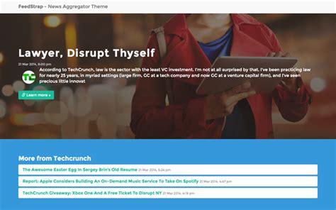 news aggregator template feedstrap feed aggregator bootstrap theme