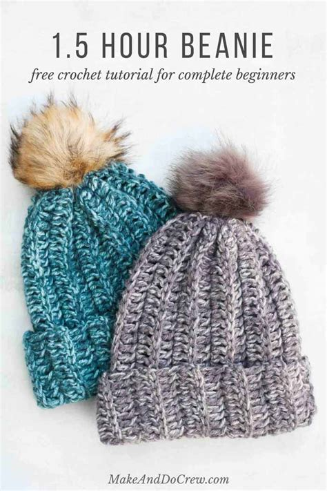 pattern crochet hat free one hour free crochet hat pattern for beginners tutorial