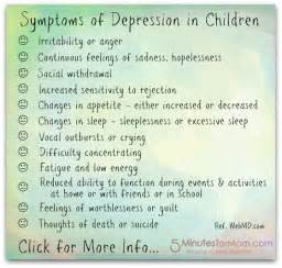 Signs your child might be depressed 5 minutes for mom