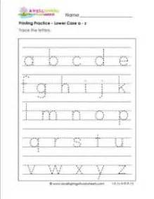 lower case a z page printing practice lower case letters