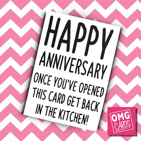 Get Back In The Kitchen by Happy Anniversary Once You Ve Opened This Card Get Back In