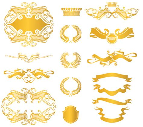 european style gold frame pattern vector 14 gold vector border images gold borders and frames
